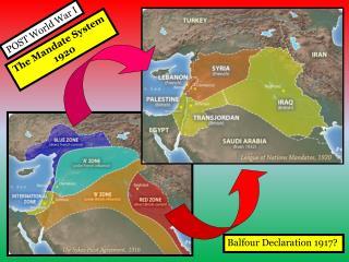 The Mandate System 1920