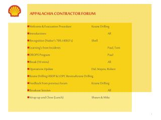 APPALACHIA CONTRACTOR FORUM