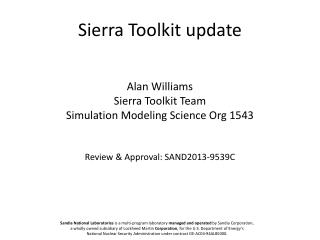 Sierra Toolkit update