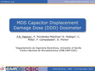 MOS Capacitor Displacement Damage Dose (DDD) Dosimeter