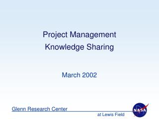 Project Management  Knowledge Sharing