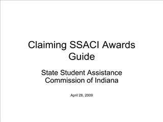 Claiming SSACI Awards Guide