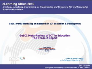 eLearning Africa 2010 Creating an Enabling Environment for Implementing and Sustaining ICT and Knowledge Society Interve