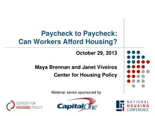 Paycheck to Paycheck: Can Workers Afford Housing?