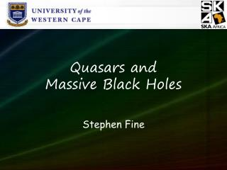 Quasars and  Massive Black Holes