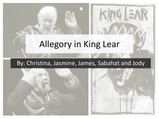 Allegory in King Lear