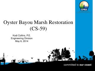 Oyster Bayou Marsh Restoration  (CS-59)