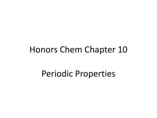 Honors  Chem  Chapter 10