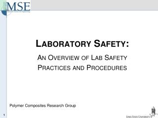 Laboratory Safety: