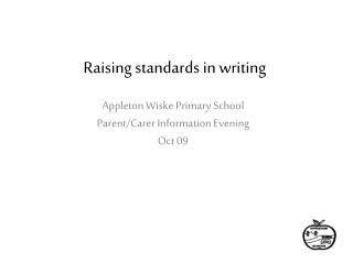 Raising standards in writing