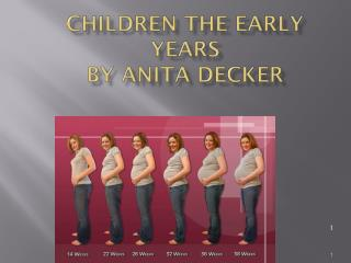 Children The Early Years by Anita Decker