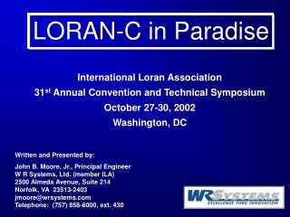 LORAN-C in Paradise
