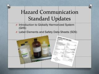 Hazard Communication Standard Updates