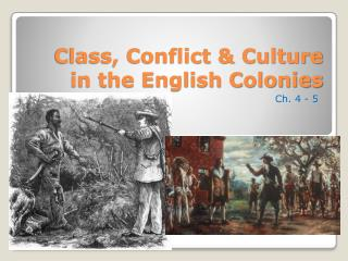 Class, Conflict & Culture in the English Colonies