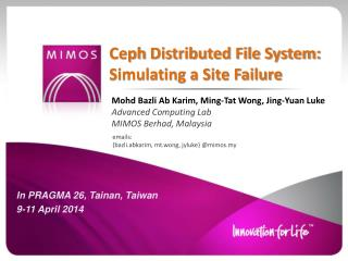 Ceph  Distributed File System: Simulating a Site Failure