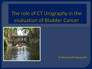 The role of CT Urography in the evaluation of Bladder Cancer