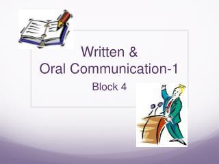 Written  &  Oral  Communication-1