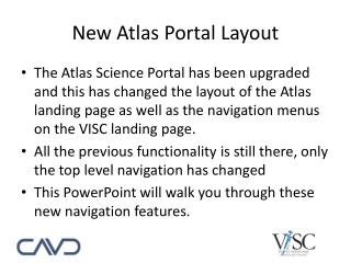 New Atlas Portal Layout