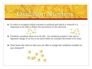 Oxidation Numbers: