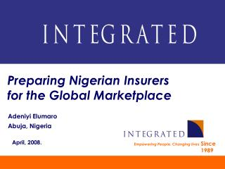 Preparing Nigerian Insurers for the Global Marketplace