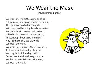 we wear the mask analysis line by line