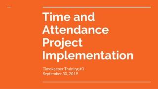 Timekeeper Training
