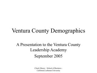 Ventura County Demographics