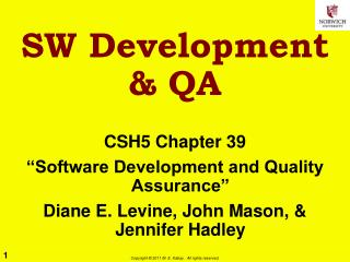 SW Development  & QA