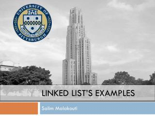 Linked List's Examples
