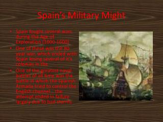 Spain's Military Might