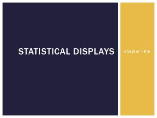 statistical displays