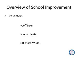 Overview of School Improvement