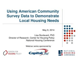 Using American Community Survey Data to Demonstrate Local Housing Needs