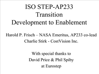 ISO STEP-AP233  Transition  Development to Enablement
