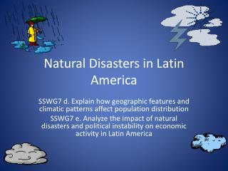 Natural Disasters in Latin America
