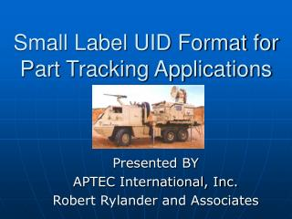 Small Label UID Format for Part Tracking Applications
