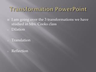 Transformation PowerPoint