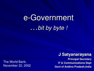 e-Government … bit by byte !