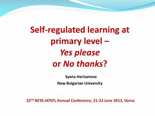 What is self-regulation?