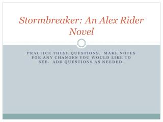 Stormbreaker: An Alex Rider Novel