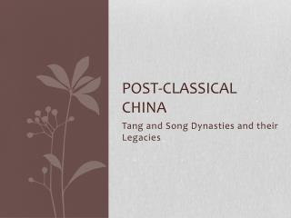 Post-classical China