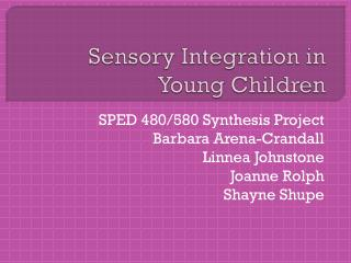 Sensory Integration in Young Children
