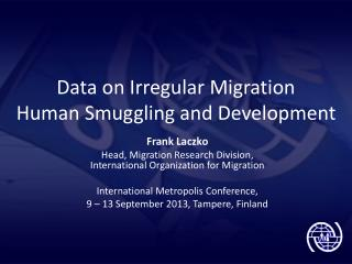 Data on Irregular Migration  Human Smuggling and Development
