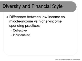 Diversity and Financial Style