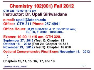 Chemistry 102(001) Fall 2012