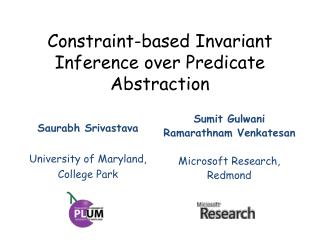 Constraint-based Invariant Inference over Predicate Abstraction
