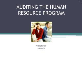 AUDITING THE HUMAN RESOURCE PROGRAM