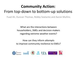 Community Action: From top-down to bottom-up solutions