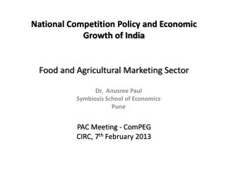 Food and Agricultural Marketing Sector