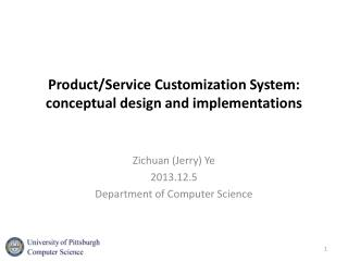 Product/Service Customization System: conceptual design and implementations